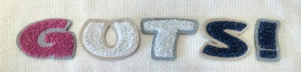 モコモコラメワッペン(サガラ刺繍)英数字