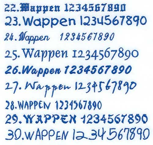 1コインワッペンの書体19~30