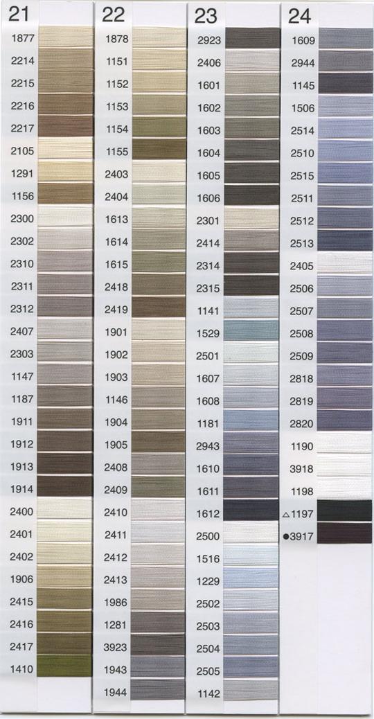 パールヨット刺繍糸レーヨン21~24